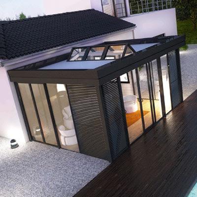 minimal modernist garden house modern design by. Black Bedroom Furniture Sets. Home Design Ideas