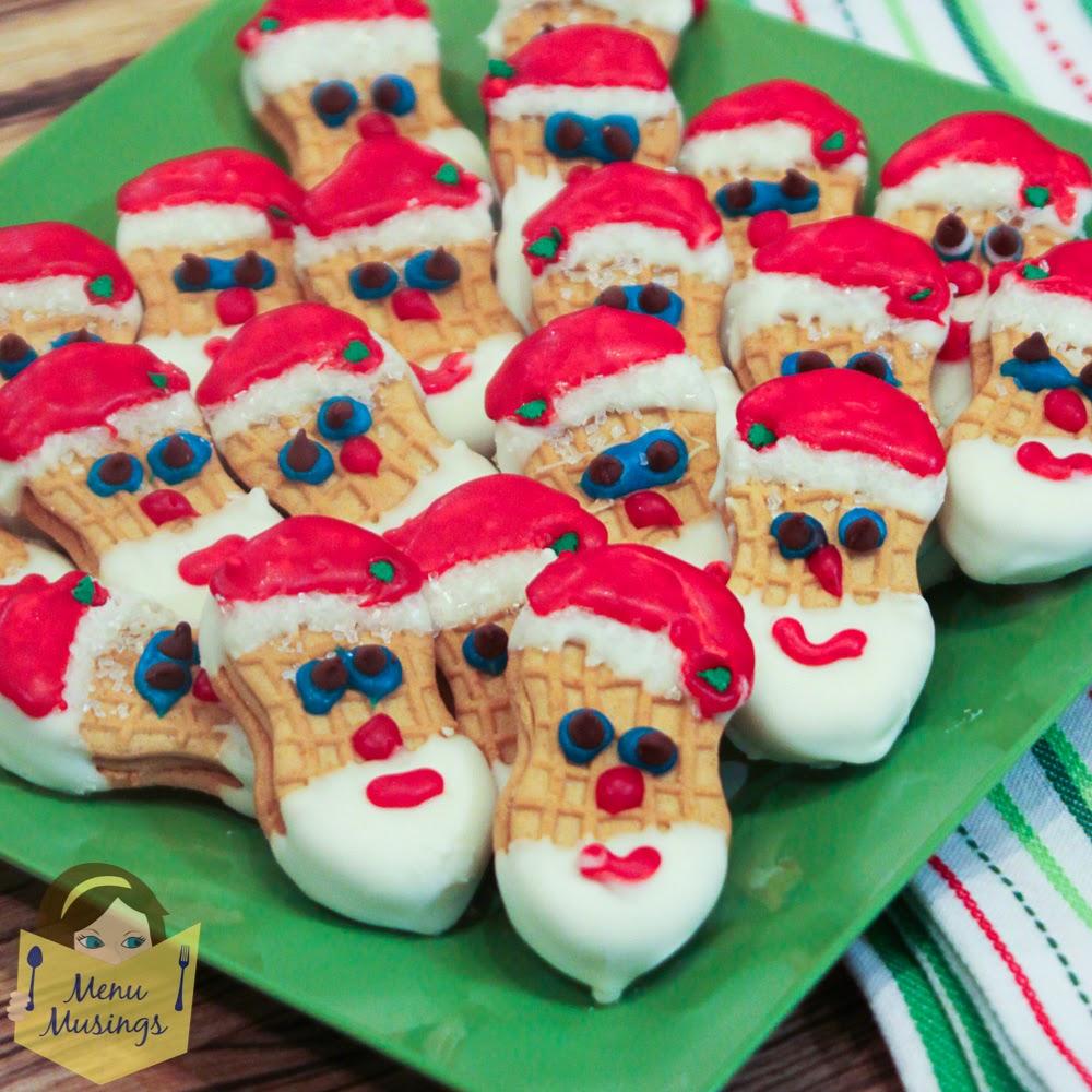 Menu Musings Of A Modern American Mom Nutter Butter Santa Cookies