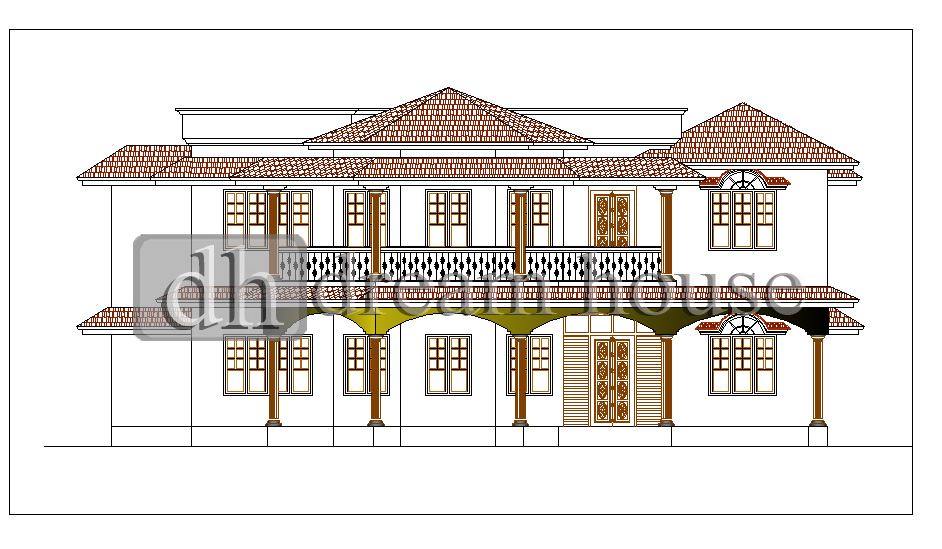 Dream house for residential building plan and elevations for Kerala residential building elevations