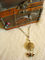 Falling Leaves Bronze Necklace by hotGlued