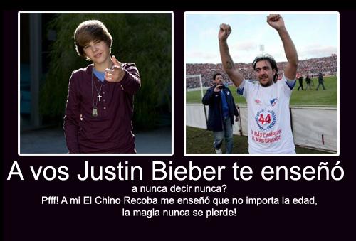 Justin Bieber te enseño, Chino Recoba