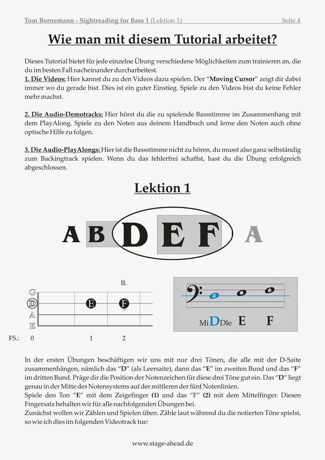 four strings basslessons april 2014. Black Bedroom Furniture Sets. Home Design Ideas