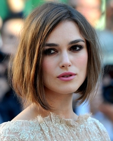 Keira Knightley Side Parted Bob Hairstyle