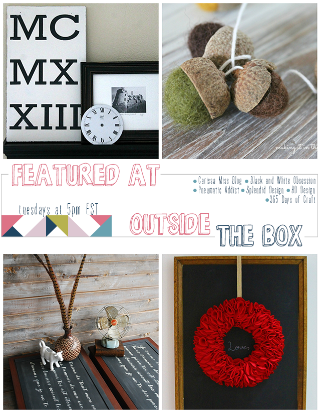 Outside [the Box] No. 9: Weekly Link Party, Visit www.blackandwhiteobsession.com to link up and be inspired #linkparty #outsidetheboxparty
