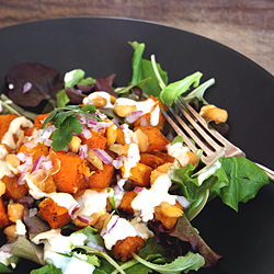 5 Strategeis for the Wahls Diet - Warm Chick Pea and Butternut Squash Salad