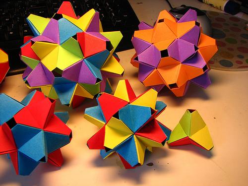 Модульные оригами разное