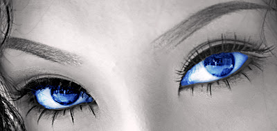 Women with blue eyes
