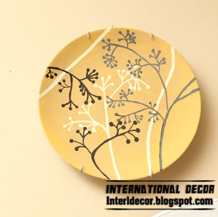 make art plate to decorating your wall - wall art plate craft idea