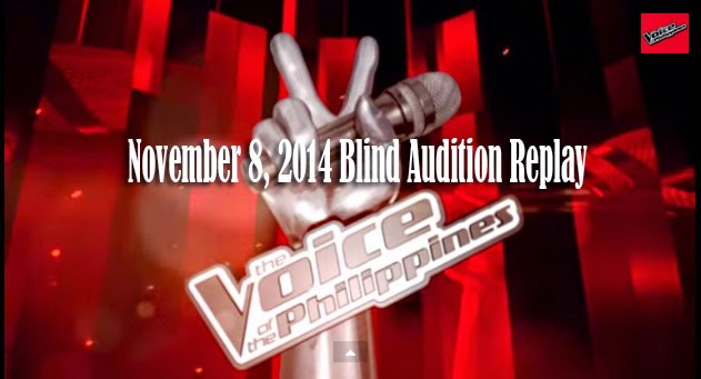 Video: The Voice of the Philippines Season 2 November 8, 2014 Blind Audition Replay