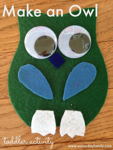 Owl busy bag activity for toddlers! Perfect Fall activity for toddler quiet time.