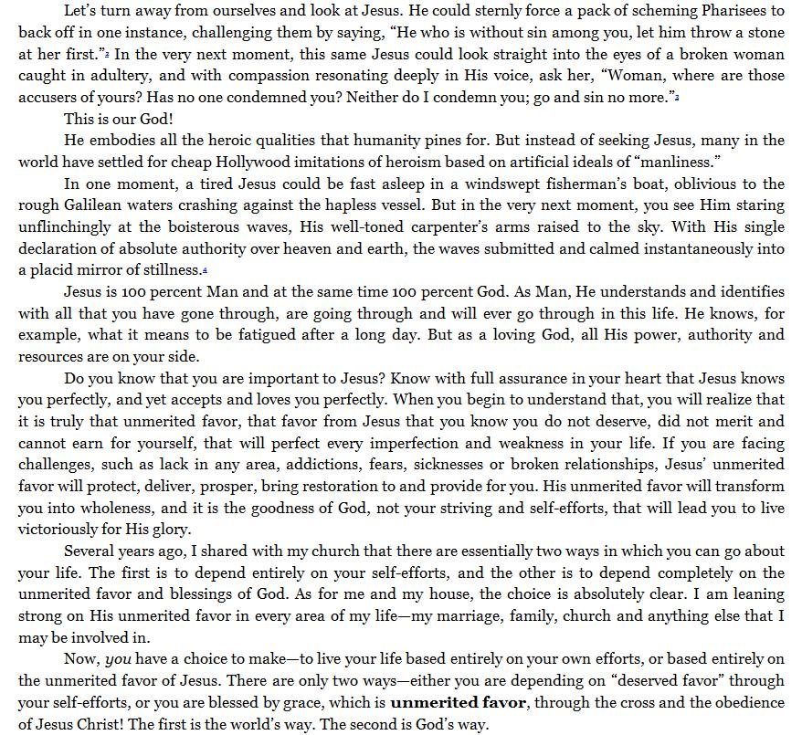 joseph prince unmerited favor pdf