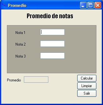 Promedio / Media de tres notas VB 2008