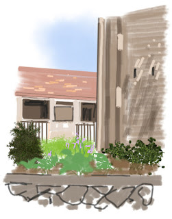 Art By-Products: Peachtree iPad sketch