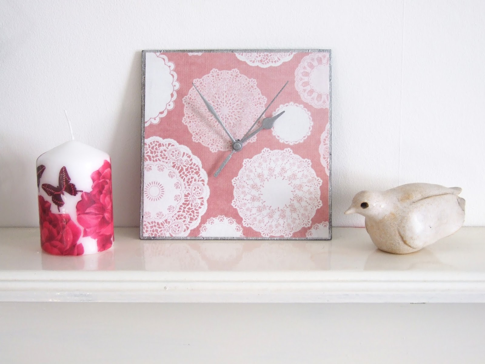 Diy Fabric Covered Clock