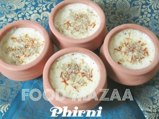 Shobha's Food Mazaa: PHIRNI ( TRADITIONAL INDIAN RICE PUDDING )