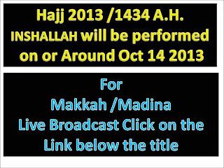 Live Hajj 2013