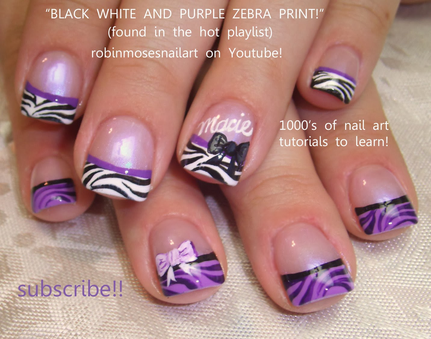 Zebra Tips Nail Art 12