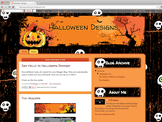 Pumpkin Holiday Templates Book Blogger Design