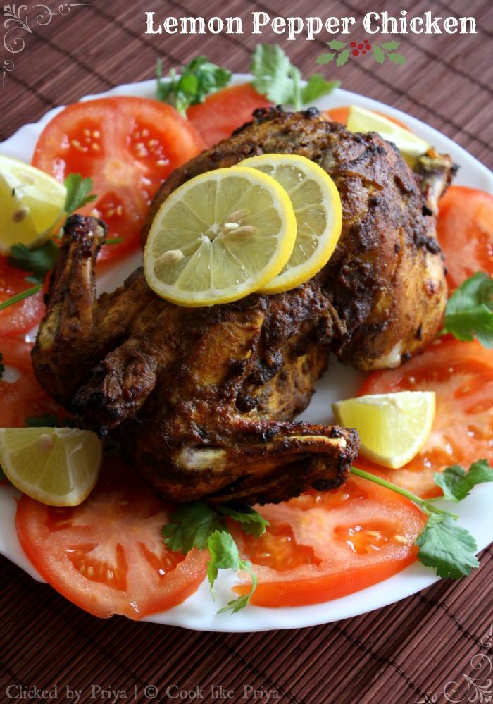 Lemon Pepper Chicken Roast | Whole Chicken Recipe | Christmas Party ...