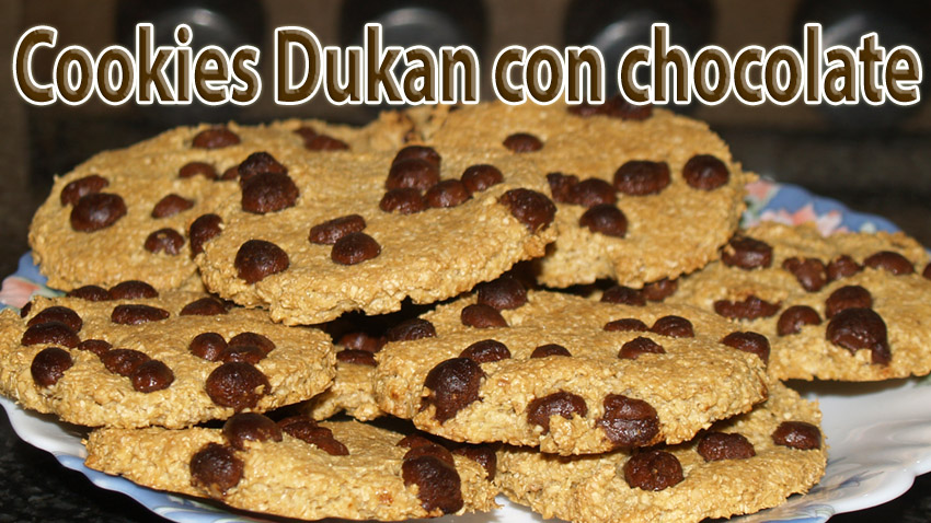 Cookies dukan con trocitos de chocolate - Chocolate chips cookies