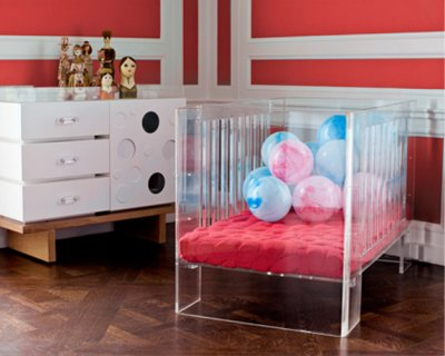 Megan and margaret ghost chairs and lucite furniture for Elle decor nursery