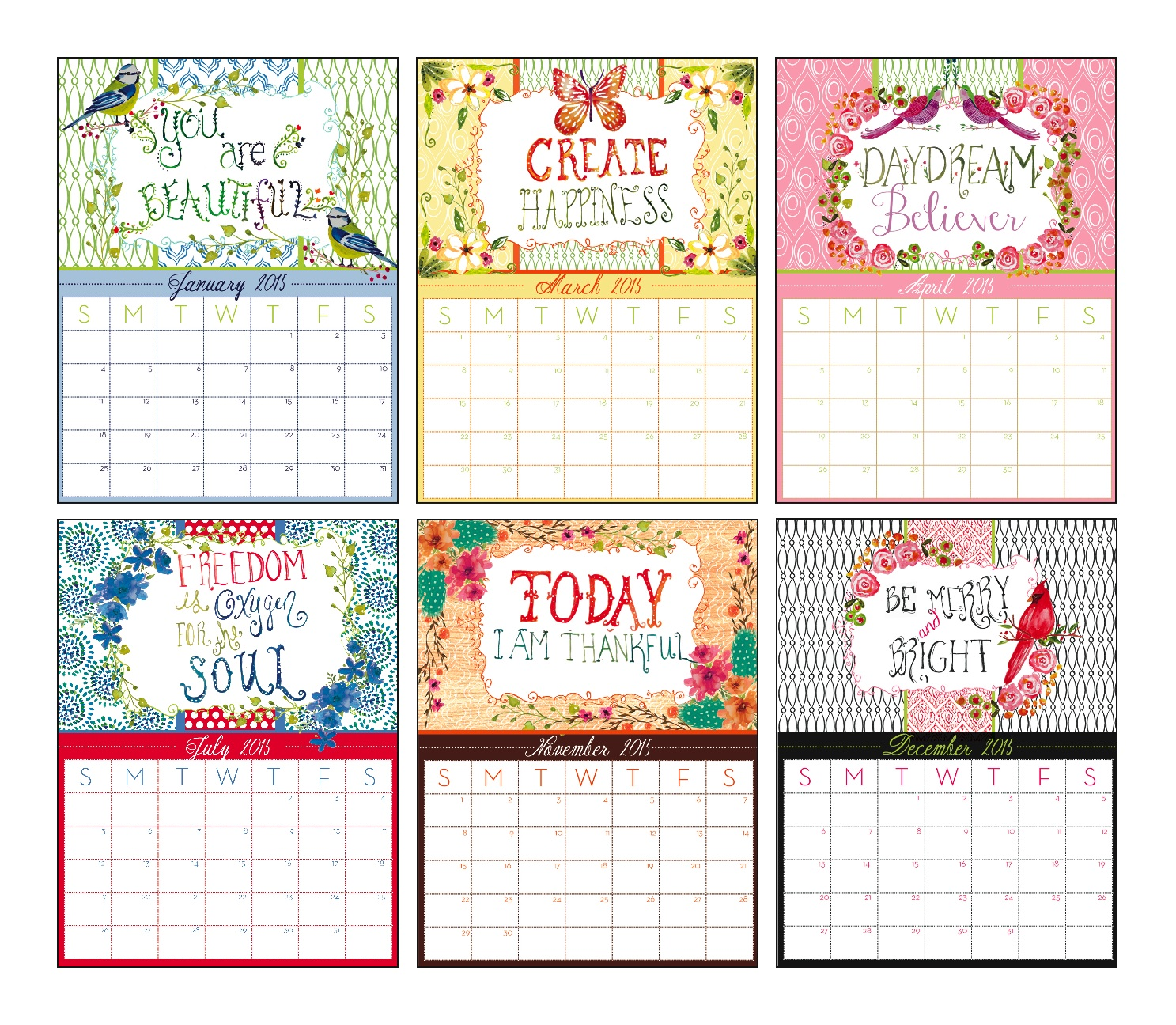 Calendar Design Price : Bella ink designs introduces new everyday