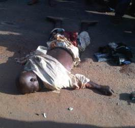 Graphic photos: Trailer kills Okada man and his female passenger