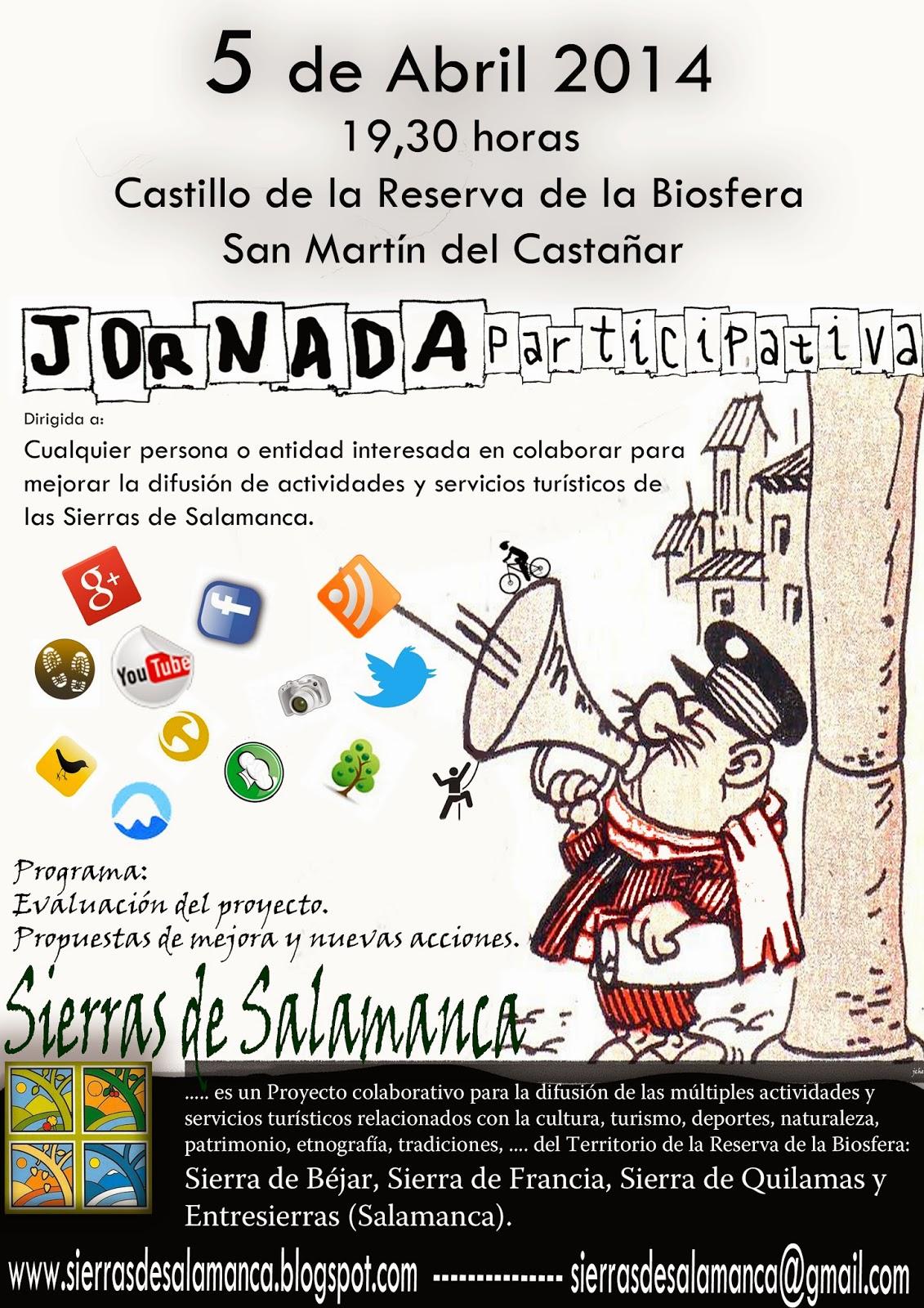 """5/Abril: Jornada Participativa """"Sierras de Salamanca"""". San Martín del Castañar, San Martín del Castañar, Reunión,"""