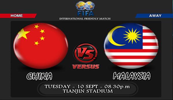 Keputusan China vs Malaysia 10 September 2013 - Perlawanan Persahabatan