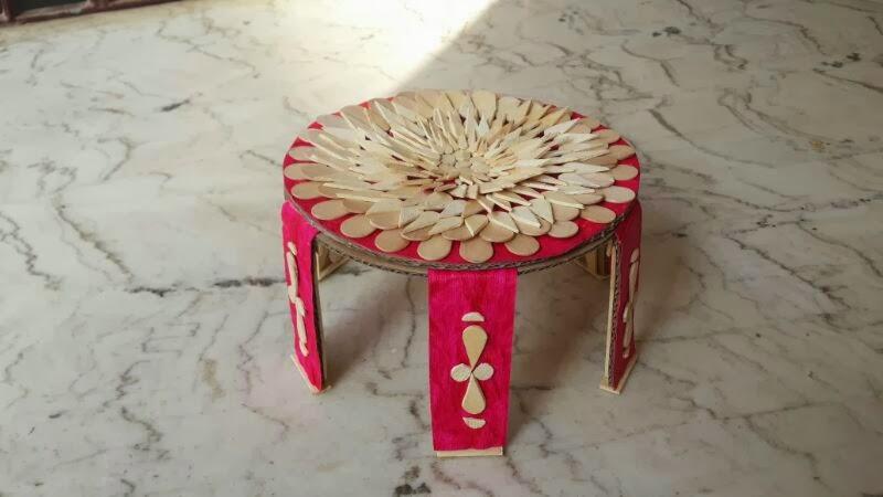 Happypaintingworld2 icecream stick table for Designs using ice cream sticks