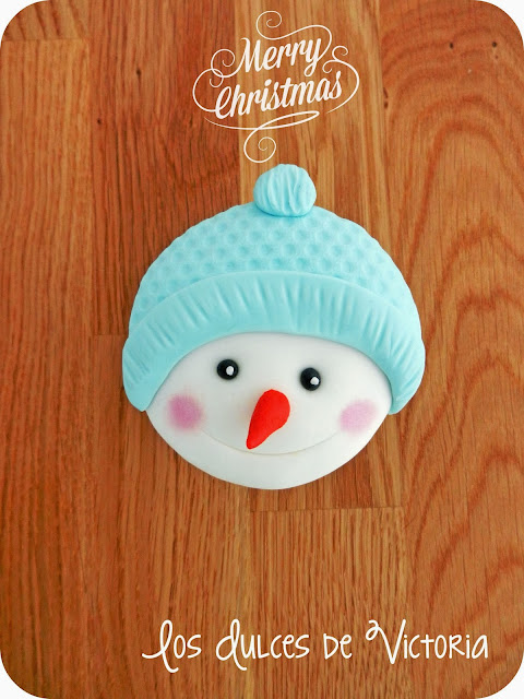 tutorial cupcake muñeco de nieve