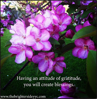 An attitude of gratitude, creates blessings