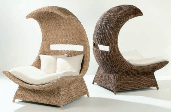 Interior design strange chairs for Poltrone in vimini ikea