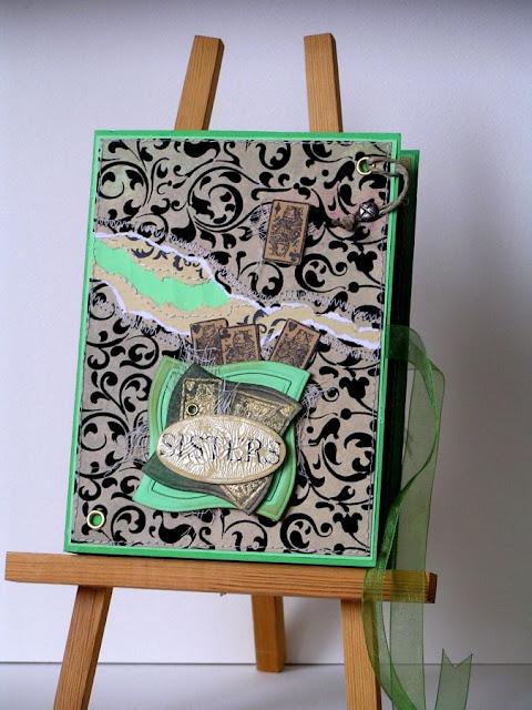 kartka książka_prezent dla siostry_ urodzinowa kartka_Spellbinders Nestabilities Wonky Squares