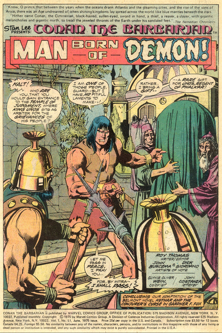 Conan the Barbarian (1970) Issue #51 #63 - English 2