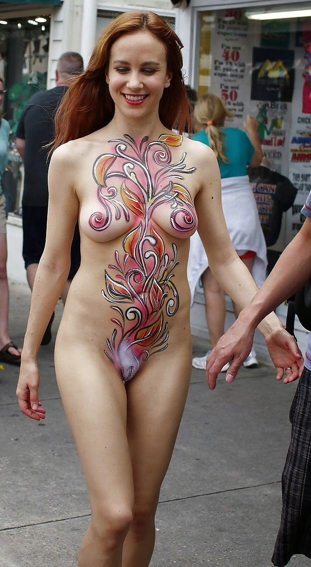 You thanks Nude body paint women in key west join