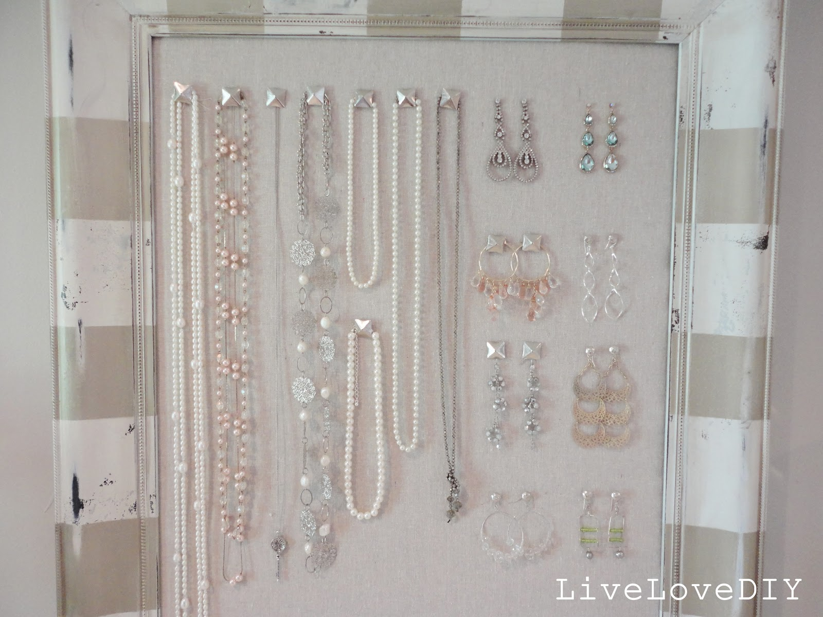LiveLoveDIY DIY Corkboard Jewelry Organizer