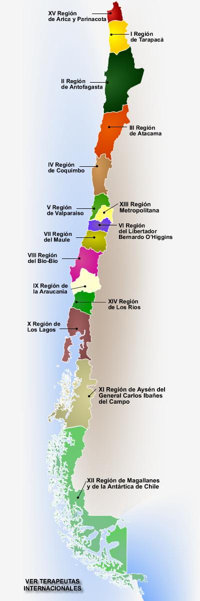 mapa de regiones de chile