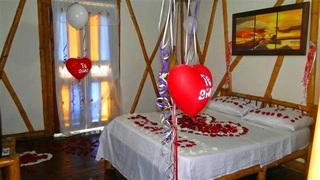Imagenes para decorar camas y mesas romanticas en san valentin