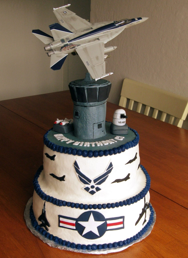 Air force cakes cool jets for Air force cakes decoration