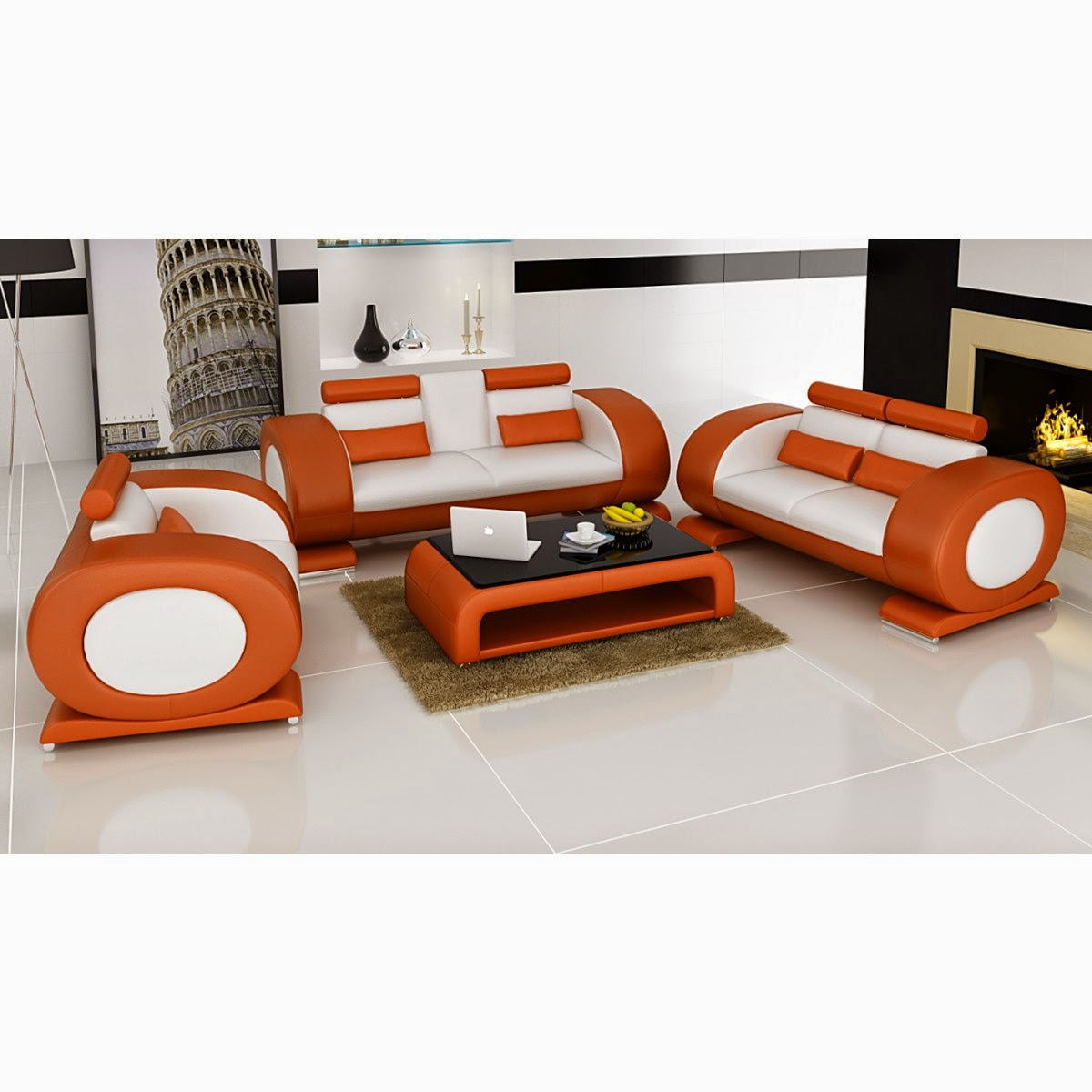 canap design en cuir de luxe les canap s au monde. Black Bedroom Furniture Sets. Home Design Ideas