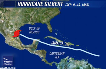 Hurricane gilbert pictures