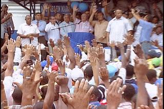 Hipólito Mejía juramenta Comando Nacional de Transporte y  promete cumplir demandas sociales del sector.