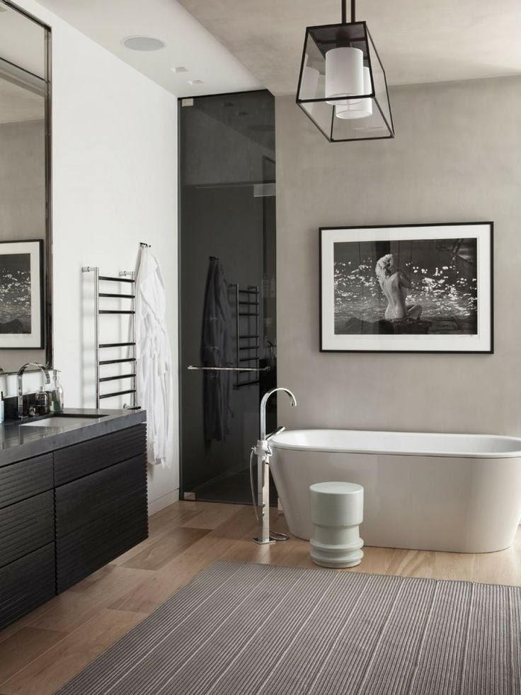 D co black white n 2 la salle de bains for Deco salle de bains