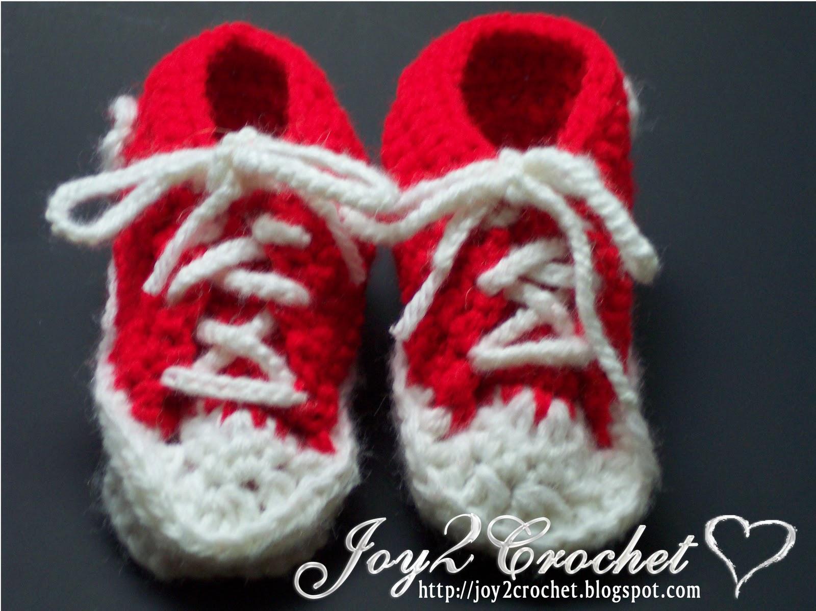Joy 2 Crochet: Crochet Converse Baby Shoes