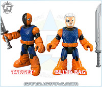 Imaginext dc comics blind bag foil Slade Deathstroke Batman Catwoman Red Hood アメコミ バットマン