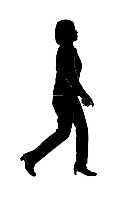 silhouette of an uniformed woman at Bangkok airport