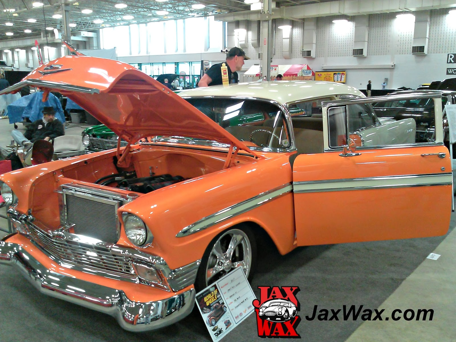 1956 Chevy Belair Indianapolis World of Wheels Jax Wax Customer