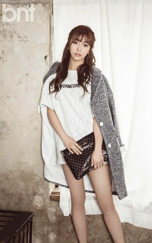 f x luna sports long hair for bnt pictorial daily k pop news. Black Bedroom Furniture Sets. Home Design Ideas
