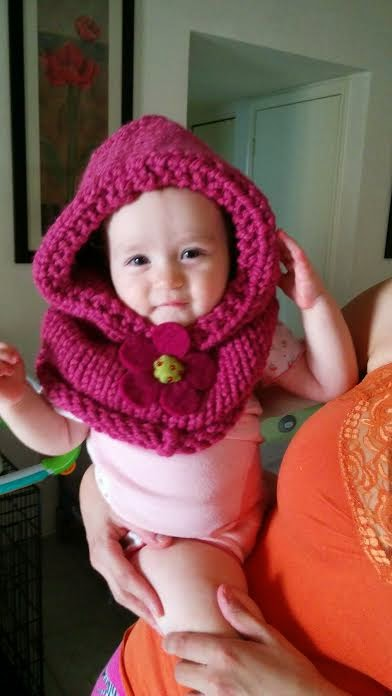 Louise Knits Baby Cowl Hat Knitting Pattern